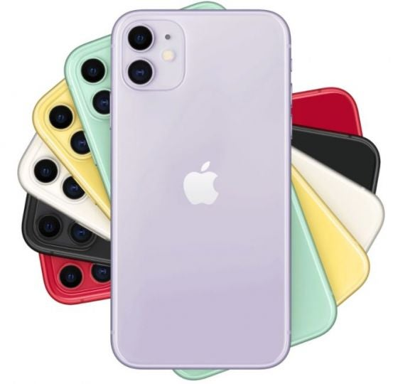 Several iphones sitting on top of one another, stacked