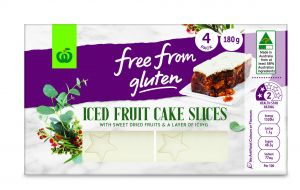 Gluten-Free Iced Fruit Cake Slices