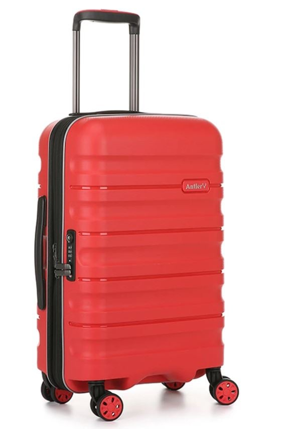 Antler red luggage/suitcase