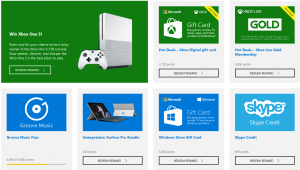 Microsoft Rewards Redeem