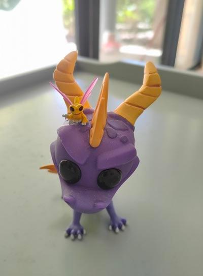 Spyro figurine taken on the Realme 7 Pro phone