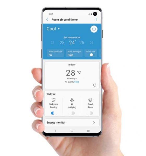 Samsung wind free air con wi-fi embed
