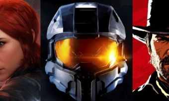 Three video game characters from Control, Halo and Red Dead Redemption 2