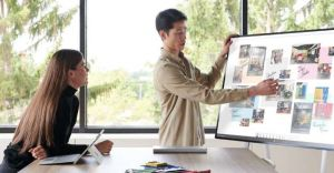 Microsoft Surface Hub 2S Meeting
