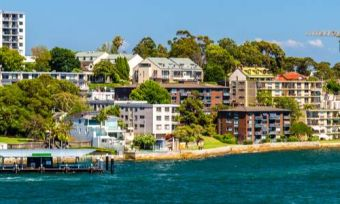 View of Sydney suburb from the water