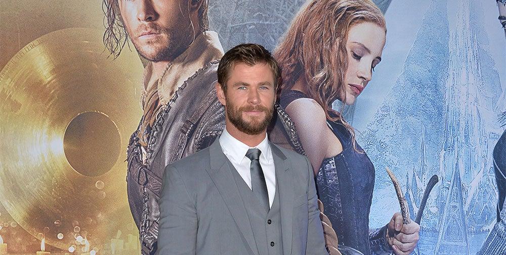 Chris Hemsworth at Huntsman: Winter's War premiere
