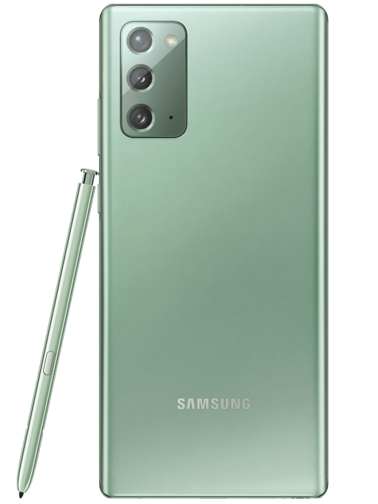 Samsung Galaxy Note 20 phone in green