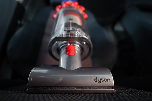 Dyson vacuum head on surface