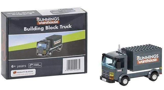 Bunnings lego-style truck collectable