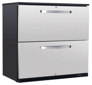 Husky 190L Double Drawer bar fridge