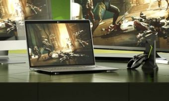 Several devices running GeForce NOW, a videogame streaming service