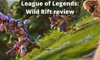 Several characters from the popular videogame League of Legends, running down a hill