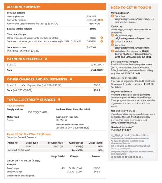 origin bill back page