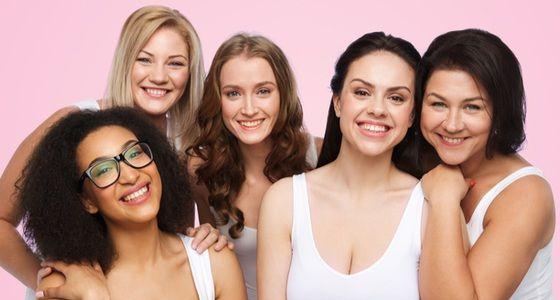 pink background women
