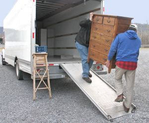 Men loading moving van
