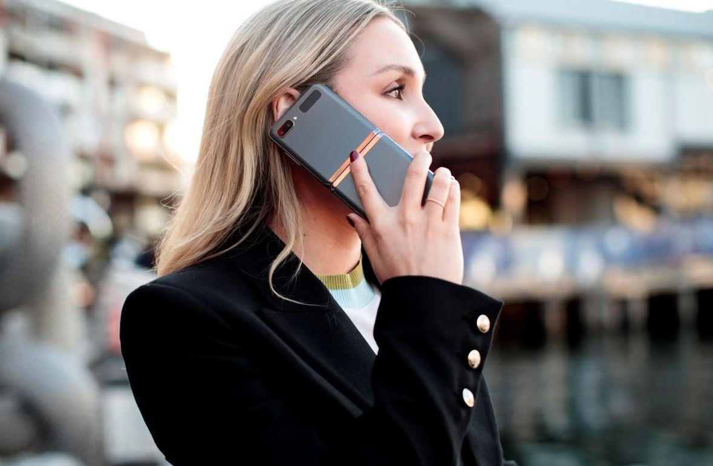 Flip phone making call