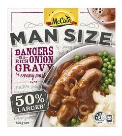 McCain Man Size frozen meals review