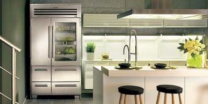 Sub-Zero Built-In French Door Refrigerator and Freezer with Internal Dispenser