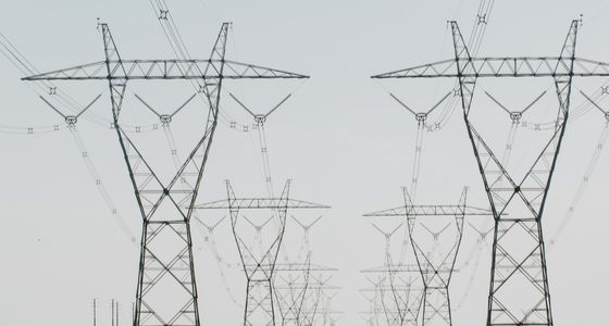 Large electricity wires and towers in Victoria