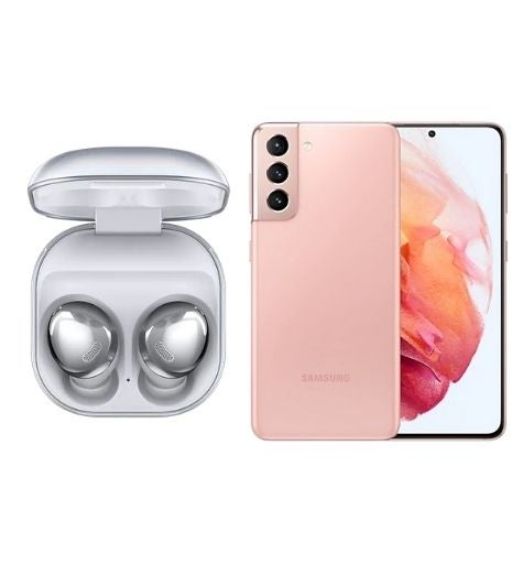 The Samsung Galaxy Buds Pro and the Samsung Galaxy S21