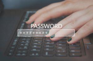 Entering password on laptop