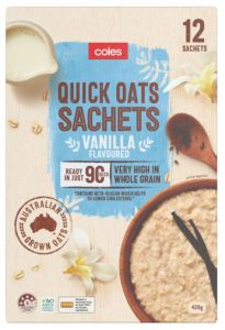 Coles breakfast oats