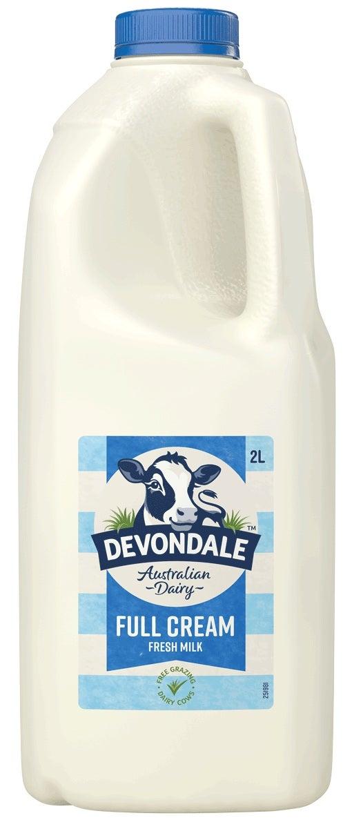 Devondale full cream milk compared