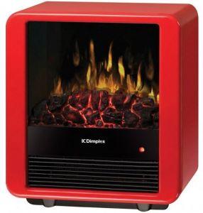 Dimplex 1.5kW Mini Cube Electric Fire Heater (Red)