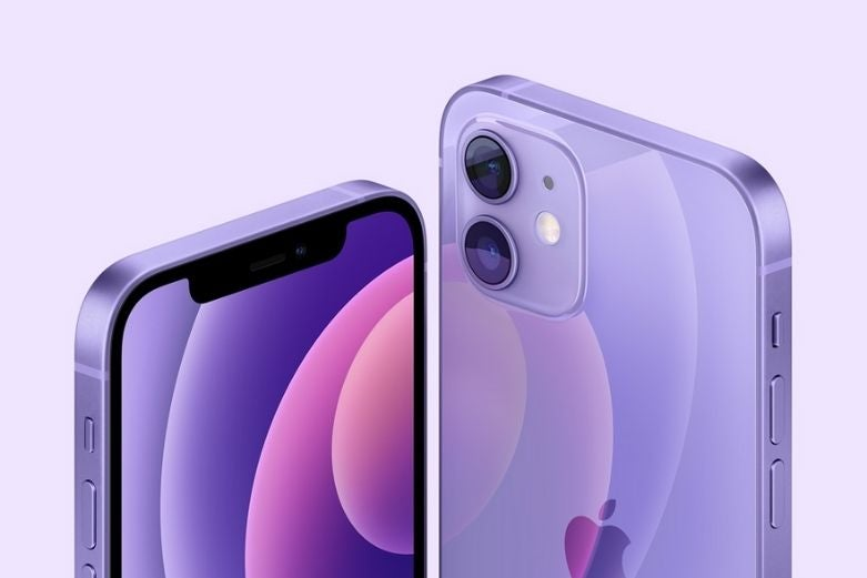 The iPhone 12 in purple