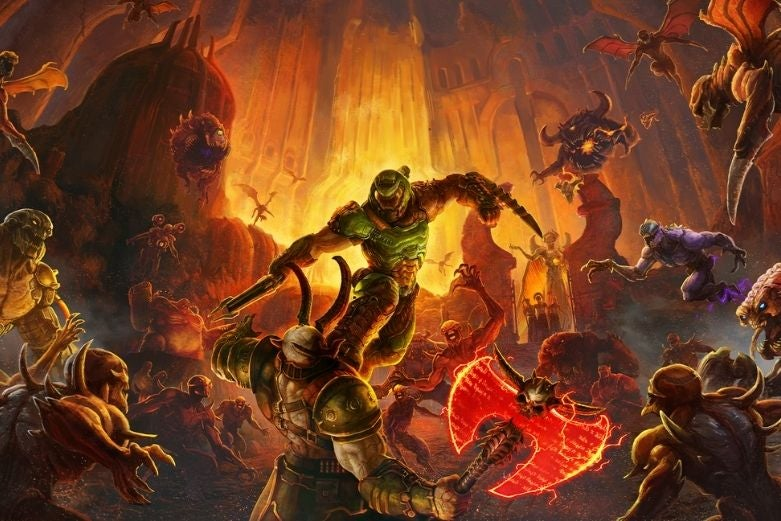 DOOM Eternal, available on Game Pass for PC
