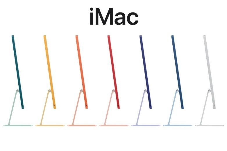 the new iMac colours