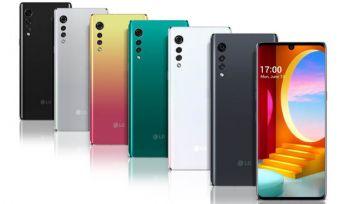 LG Velvet 5G phones in various colours
