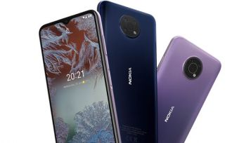 Nokia G10 phones in dusk and night colours