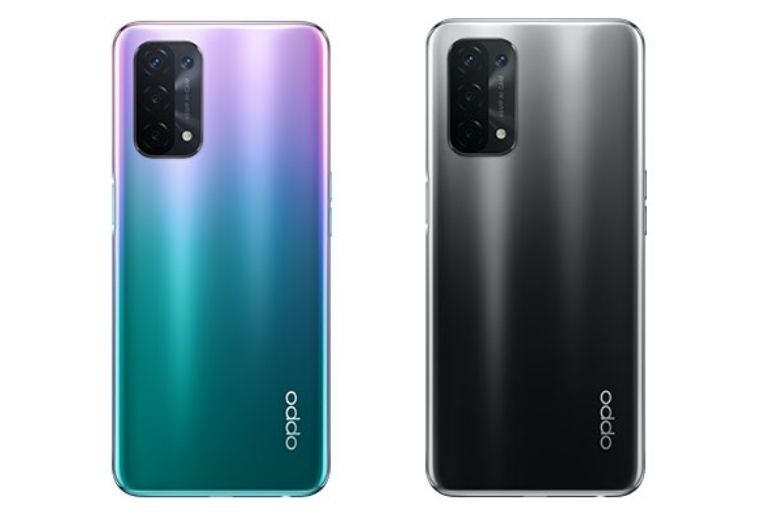 The OPPO A54 in two colours
