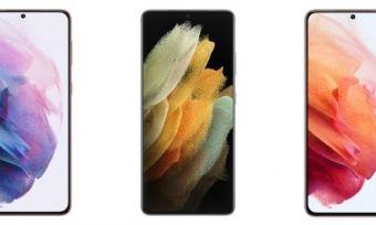 Several Samsung Galaxy S21 phones