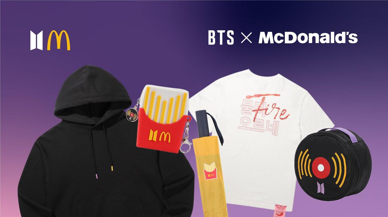 BTS McDonald's merchandise