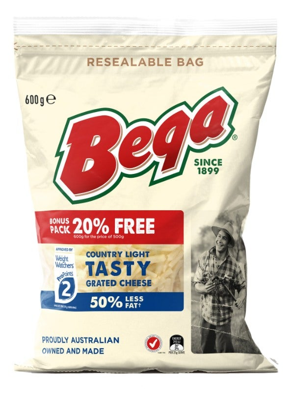 Bega grated cheese