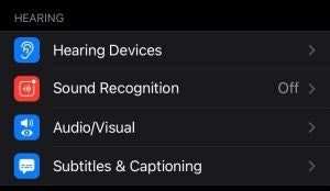 Hearing Accessibility Features iPhone