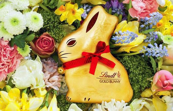 Lindt easter chocolate compared