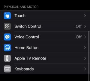 Physical and Motor Accessibility Features iPhone