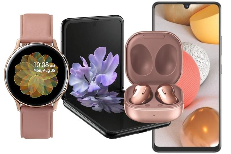A selection of Samsung devices available with discounts on Mother's Day
