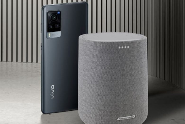 The Vivo X60 Pro 5G and the Harman Kardon smart speaker