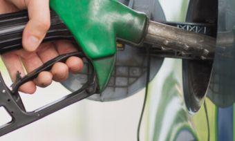 Filling up car at petrol station