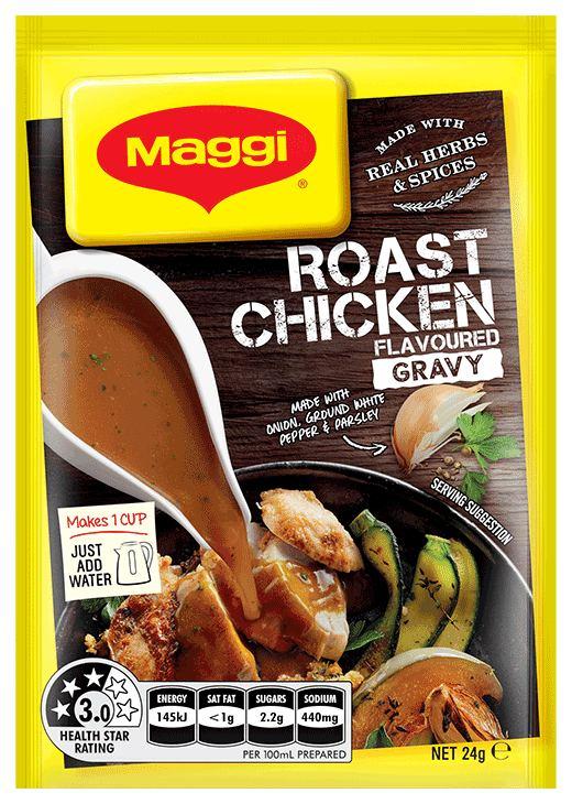 Maggi powdered gravy and stock compared