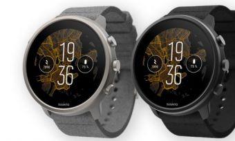 Suunto 7 Titanium watches in black and grey against white background