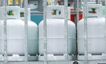 LPG cylinders in cage