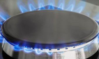 Natural gas stovetop alight