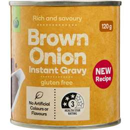 Woolworths gravy and stock compared