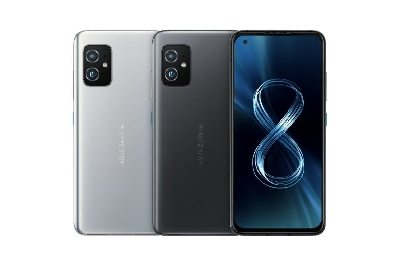 The ASUS Zenfone 8 in Silver and Black