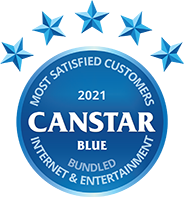 Canstar Blue 2021 Most Satisfied Customers - Bundled Internet